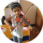 image of a small girl playing violin