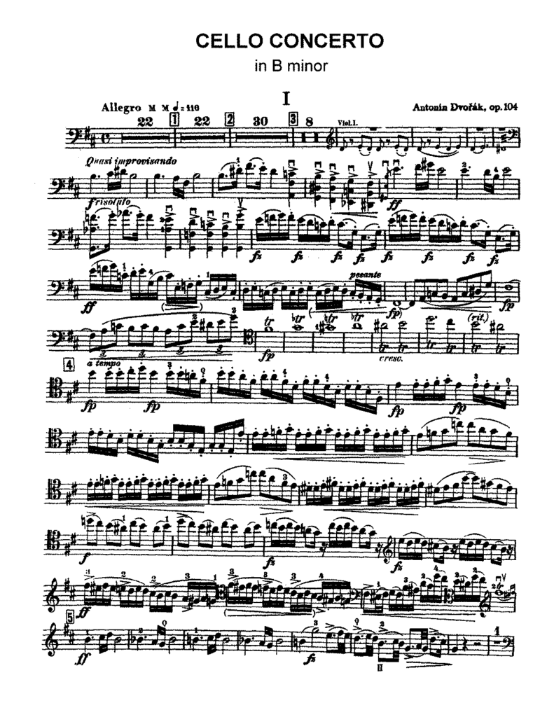 dvorak cello concerto in b minor