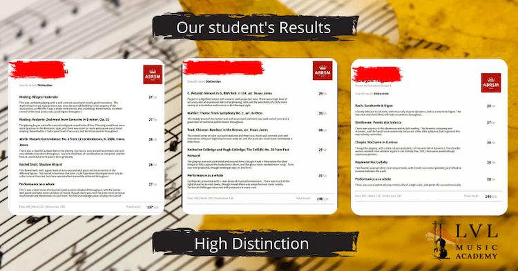 ABRSM Exam Results LVL Music Academy